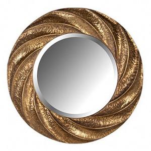 Oglinda rotunda maro bronz din fier si MDF pentru perete 86 cm Carmen Richmond Interiors