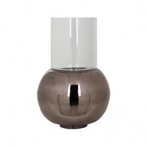 Suport negru/transparent din aluminiu si sticla pentru lumanare 60 cm Orren Richmond Interiors