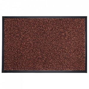 Pres dreptunghiular maro din poliamida pentru intrare 60x90 cm Solero Lako