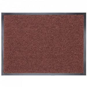 Pres dreptunghiular maro din poliamida pentru intrare 60x80 cm Continental Lako