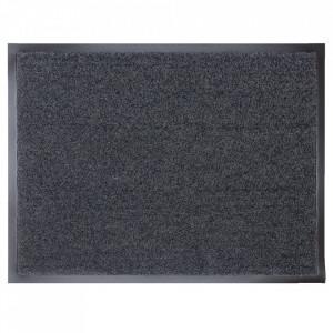 Pres dreptunghiular gri inchis din poliamida pentru intrare 40x60 cm Continental Lako