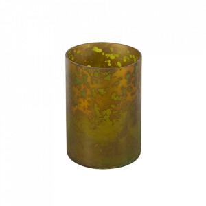 Suport lumanare maro alama din sticla 18 cm Stardust Be Pure Home