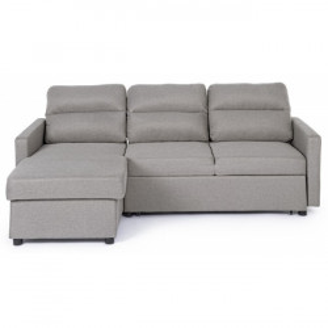 Canapea extensibila cu colt bej din poliester si lemn 213 cm Sofie Bizzotto