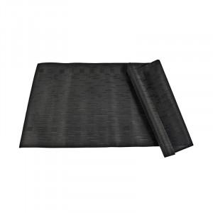 Traversa masa neagra din PVC si poliester 45x150 Lara LifeStyle Home Collection