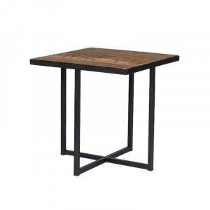Masuta din metal si lemn pentru cafea 50x50 cm Bilbao Lifestyle Home Collection