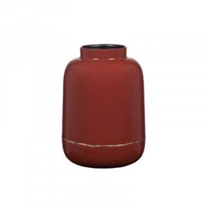 Vaza rosie din metal 26 cm Maiya Ernie Lifestyle Home Collection