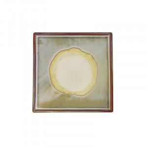 Tava patrata maro deschis din ceramica 20x20 cm Linn LifeStyle Home Collection