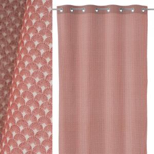 Perdea dus roz din poliester 140x260 cm Luz Luna Unimasa