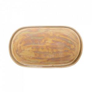 Tava ovala maro din ceramica 20x35 cm Rino Bloomingville