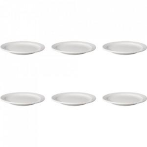 Set 6 farfurii intinse albe din portelan 21 cm Budge Mammoet