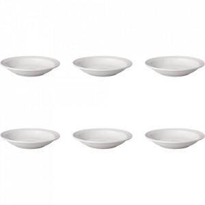 Set 6 farfurii adanci albe din portelan 21,5 cm Budge Mammoet