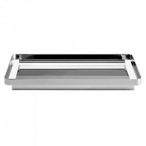 Tava dreptunghiulara argintie din metal 26x38 cm Unio Bolia