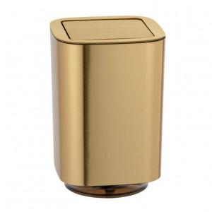 Cos de gunoi auriu din plastic 5,5 L Auron Wenko