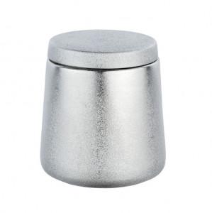Cutie cu capac argintie din ceramica pentru bijuterii Glimma Wenko