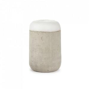 Veioza gri din beton si silicon cu LED 47 cm Kann Serax