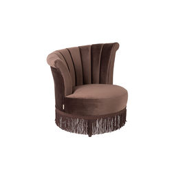 Fotoliu din catifea maro Flair Dark Brown Dutchbone
