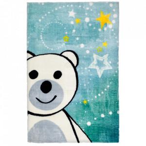 Covor albastru din poliester 120x170 cm My Lollipop Bear Obsession
