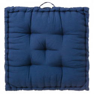 Perna patrata albastra din poliester si bumbac pentru sezut 60x60 cm Loving Colours Unimasa