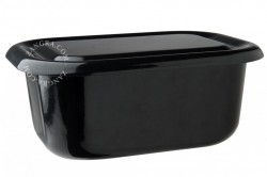Vas de copt cu capac negru din email 35 cm Eve Black Zangra