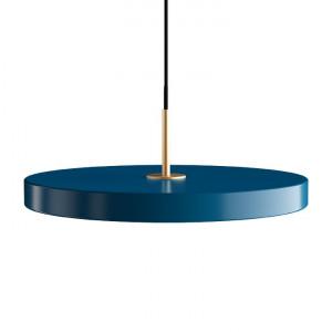 Lustra albastra din aluminiu si otel Asteria Petrol Blue Umage