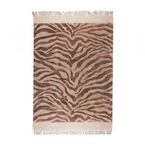 Covor roz din viscoza 160x230 cm Zebra Friendly Pink Bold Monkey