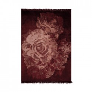 Covor roz din matase artificiala si poliester 200x300 cm Stitcky Roses Bold Monkey