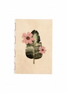 Agenda multicolora din hartie 14,5x21 cm Flora Small Peach Nordal