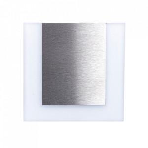 Aplica alba/argintie din aluminiu si plastic Capri M Milagro Lighting