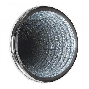 Aplica argintie din aluminiu si cristal Cassedy Richmond Interiors