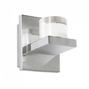 Aplica argintie din metal si acril Aqua Milagro Lighting