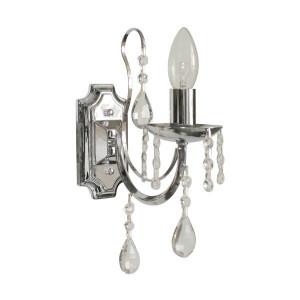 Aplica argintie din metal si sticla Albi Zuma Line