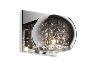 Aplica argintie din sticla si metal Crystal Zuma Line