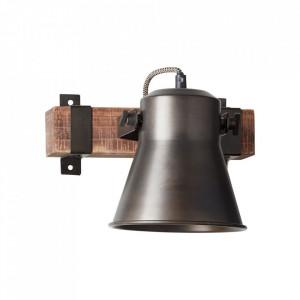 Aplica maro/neagra din metal si lemn Plow Brilliant