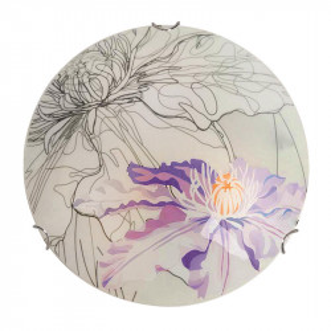 Aplica multicolora din sticla si otel cu 2 becuri Spring Violet Round Candellux