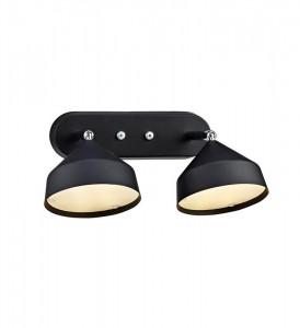 Aplica neagra din metal cu 2 LED-uri Tratt Markslojd