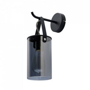 Aplica neagra din sticla si metal Alpha MW Glasberg