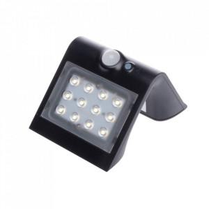 Aplica solara cu senzor pentru exterior neagra Freya Milagro Lighting