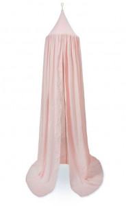 Baldachin roz din bumbac organic Dot Blossom Pink Cam Cam