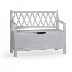 Banca gri din MDF pentru copii 70 cm Harlequin Grey Cam Cam