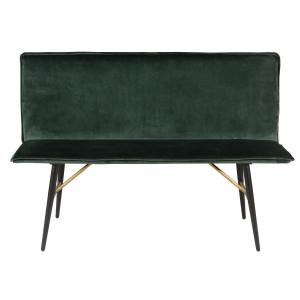 Banca verde din catifea 134 cm Vero Zago