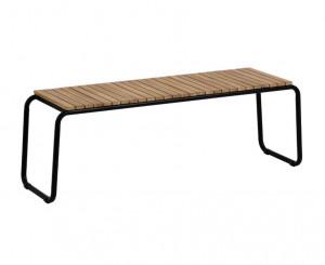 Bancheta maro/neagra din lemn de salcam si otel pentru exterior 136 cm Yukari La Forma