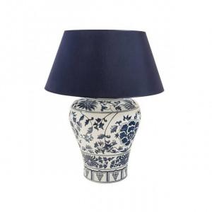 Baza pentru veioza alba/albastra din portelan 62 cm Dynasty Van Roon Living