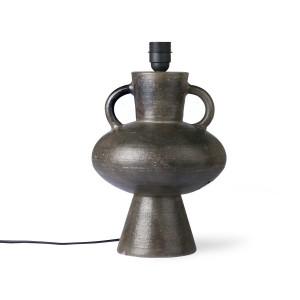 Baza veioza gri din ceramica 38 cm Lampbase Charcoal HK Living