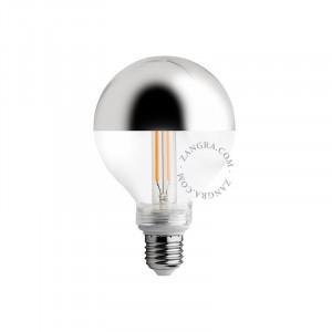 Bec dimabil LED E27 4W Fedora Silver Filament Zangra