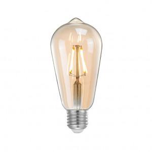Bec dimabil transparent cu filament LED E27 4W Pear LABEL51