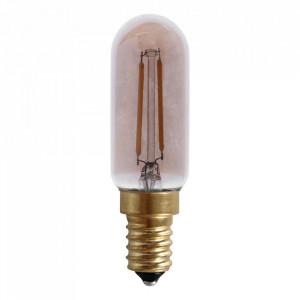 Bec maro chihlimbar cu filament LED E27 2W Edison Tube Opjet Paris