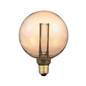 Bec maro chihlimbar cu filament LED E27 4W Thomas Opjet Paris