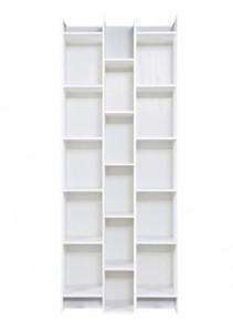 Biblioteca alba din lemn de pin 200 cm Alec Woood