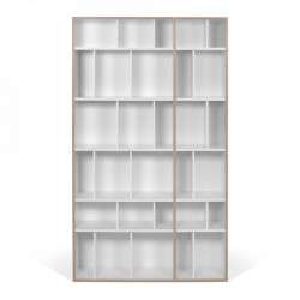 Biblioteca alba/maro din placaj 188 cm Group 108 TemaHome