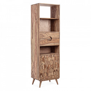 Biblioteca maro din lemn de sheesham 194 cm Kant Bizzotto